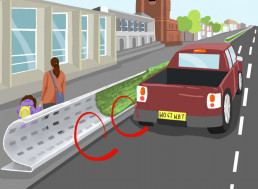 Curved Roadside Barrier Design Protects People From Air Pollution