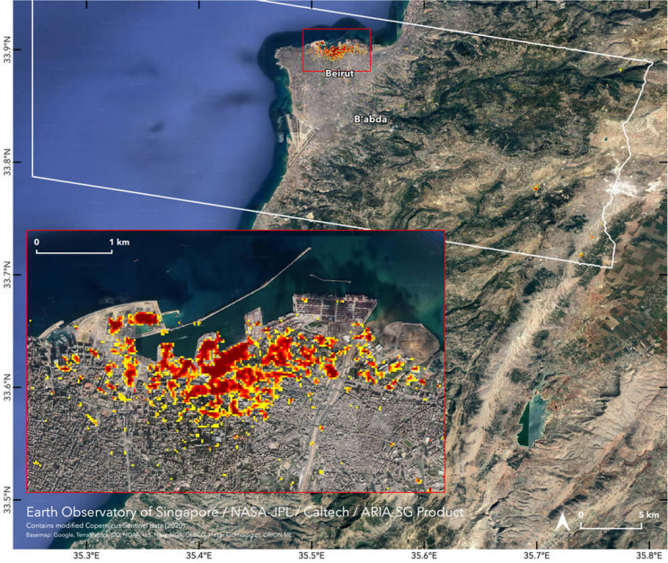 NASA Releases In-Depth Map of Beirut Explosion Damage
