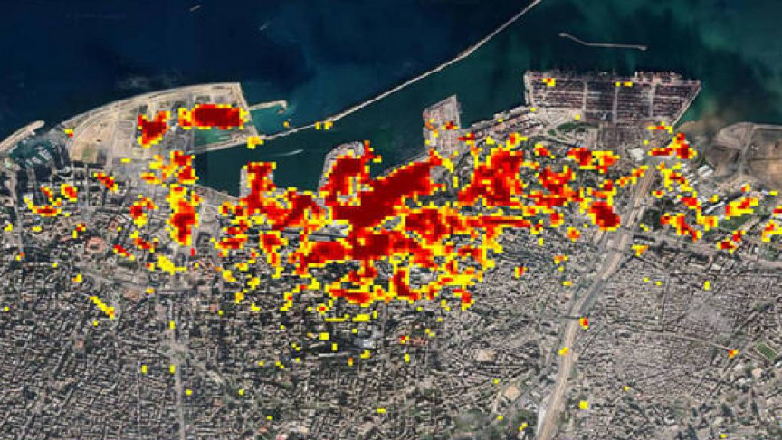 NASA Releases In-Depth Map of Beirut Explosion Damage - Interesting Engineering