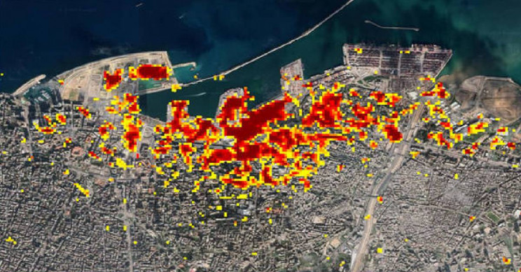 NASA maps Beirut blast damage in high-precision image