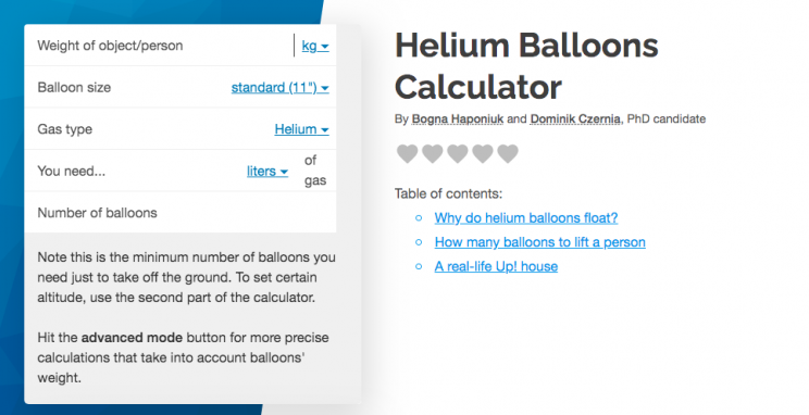 Calculating How Many Helium Balloons It Takes to Lift Anything