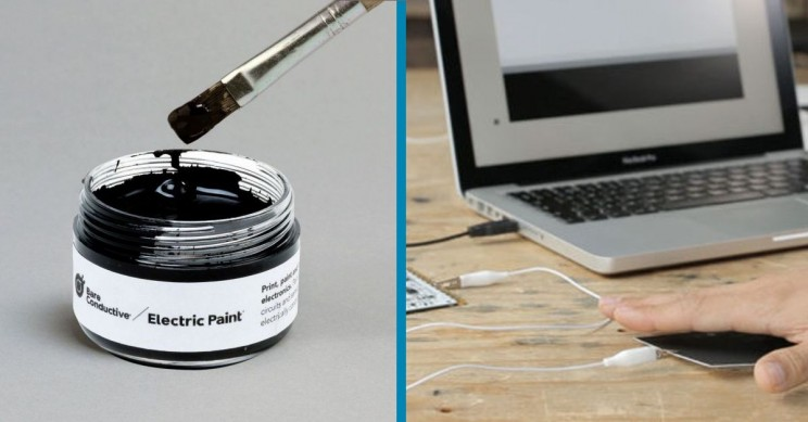 Paint Your Own Electric Circuits and Sensors With Electric Paint!
