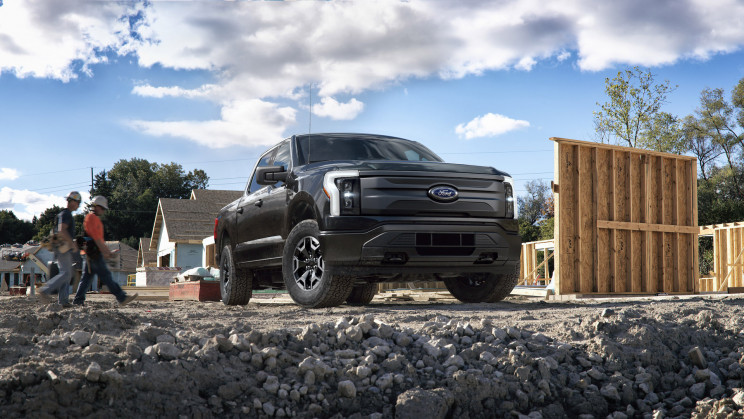 Ford Unveils Work Truck Version of the Electric F-150