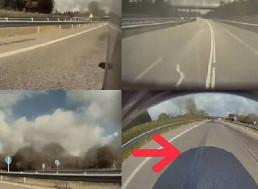 Tesla Autopilot Confuses Oil Stain for Lane Separator
