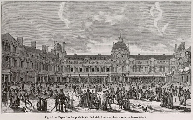 Product Expo in Louvre, France in 1801