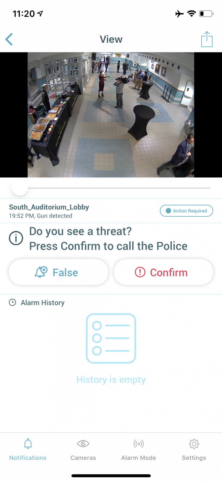 Athena security AI surveillance detects guns, prevents mass shootings