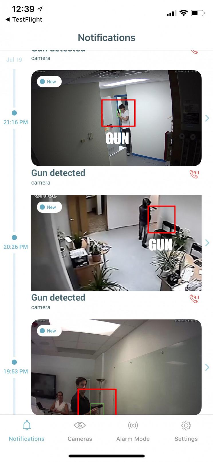 Athena security AI smart gun detection