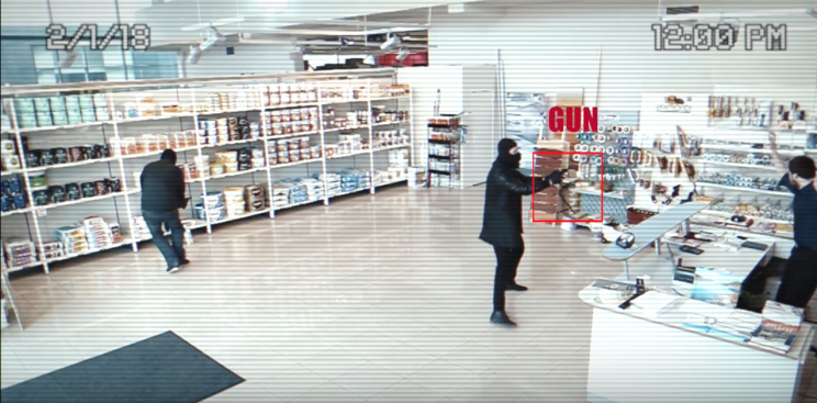 Athena security AI gun detection