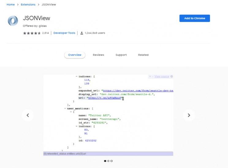 developer chrome extensions JSONViewer