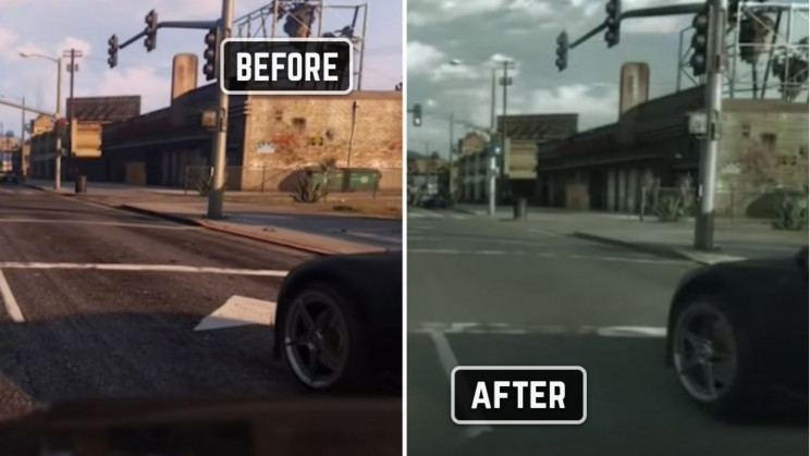 Machine Learning Takes GTA V Photorealism to Never-Before-Seen Levels