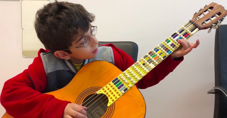 Father and Son Create World's First LEGO Microtonal Guitar