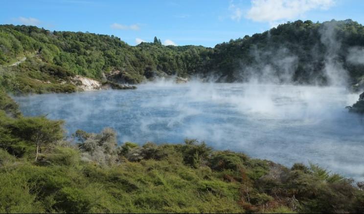Frying Pan Lake in Waimangu Volcanic Valley