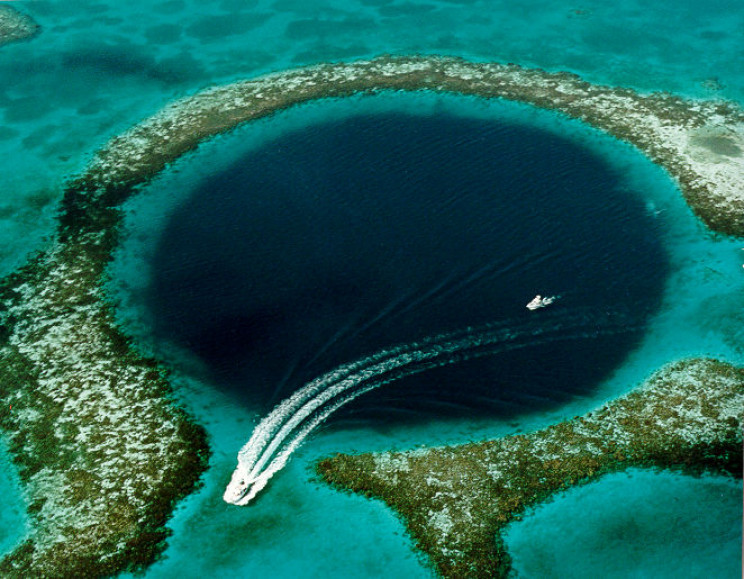 Great Blue Hole from Above