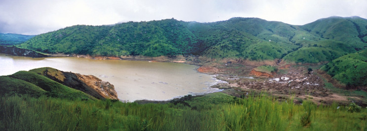 Lake Nyos after the deadly eruption