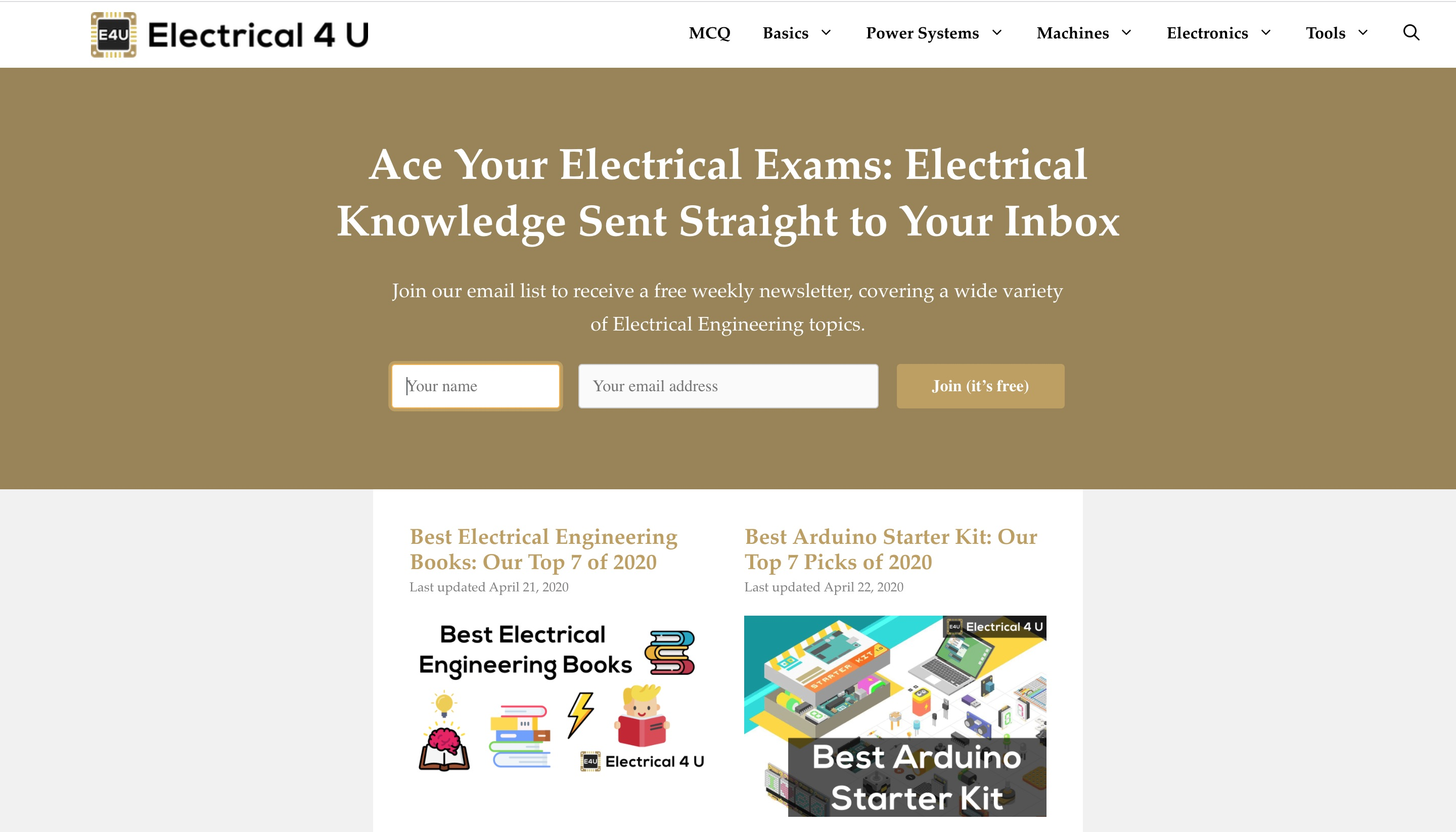 10+ Best Websites for Electrical Engineering Students