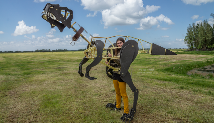 This Engineering Student Built a Mechanical Dinosaur Costume in Her Spare Time
