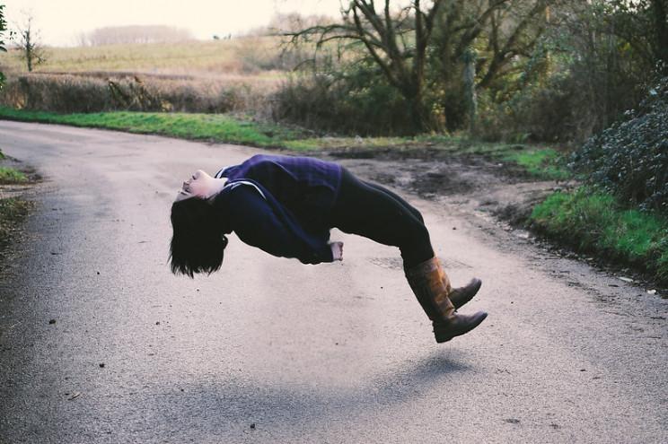 theory of gravity falling
