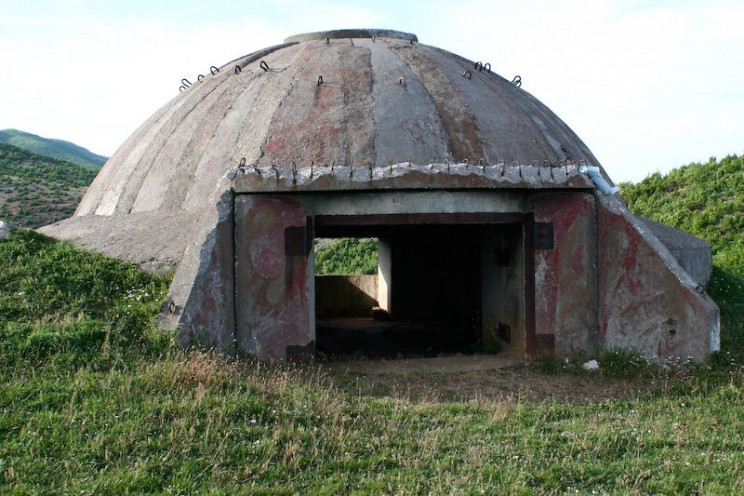 Albanian bunkers larger