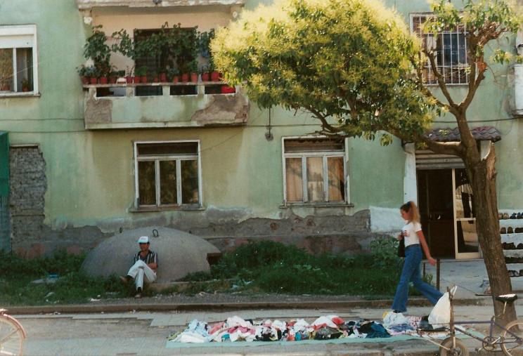 Albanian bunkers in city