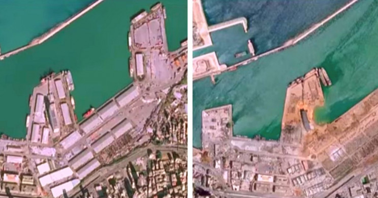 Beirut Satellite Images Show Catastrophic Scale of Explosive Damage, 135 Dead