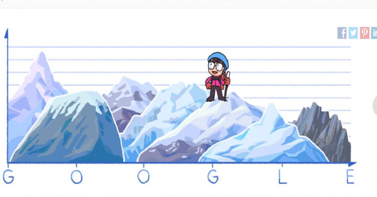 Google Doodle Celebrates First Woman to Reach the Summit of Mount Everest