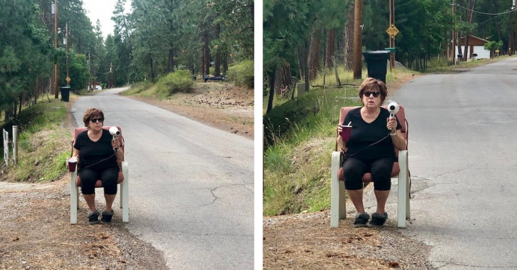 Montana Grandmother Goes Viral as She Uses Hair Dryer to Slow Local Traffic