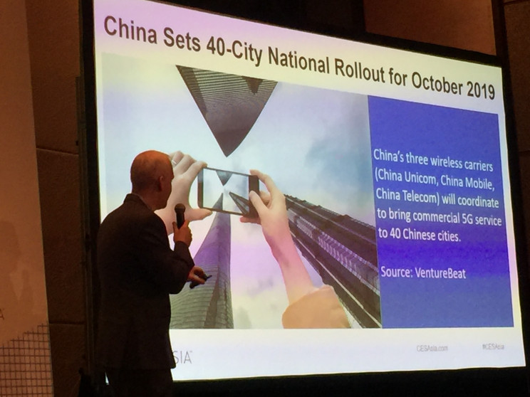 China 5G rollout, CES Asia