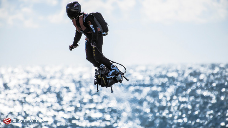 Flyboarding French Inventor Finally Crosses English Channel