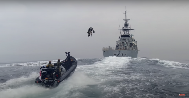 Watch as Royal Marines Test Out a Flying Jet Suit