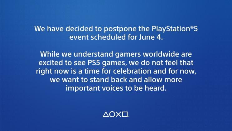 PlayStation 5 June 4 Delayed