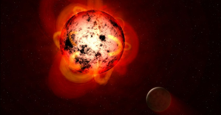NASA Flaring Red Dwarf Star