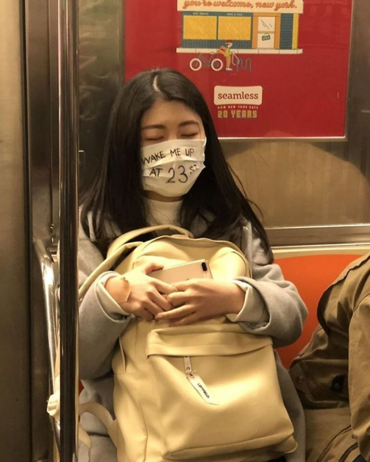 Be Careful Which Mask You Wear on the Subway