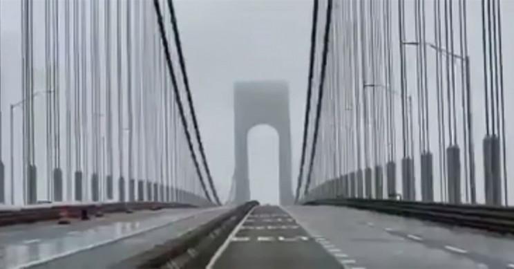 NYC's Verrazzano Bridge Sings and Swings in 60-mph Winds
