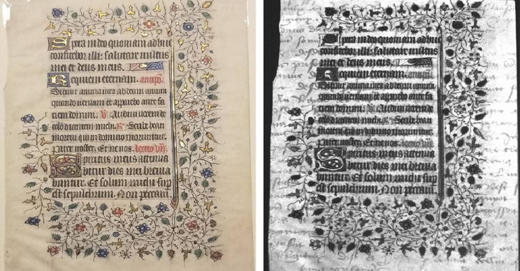 Medieval Spies: UV Imaging Reveals Hidden Text in 15th Century Manuscripts