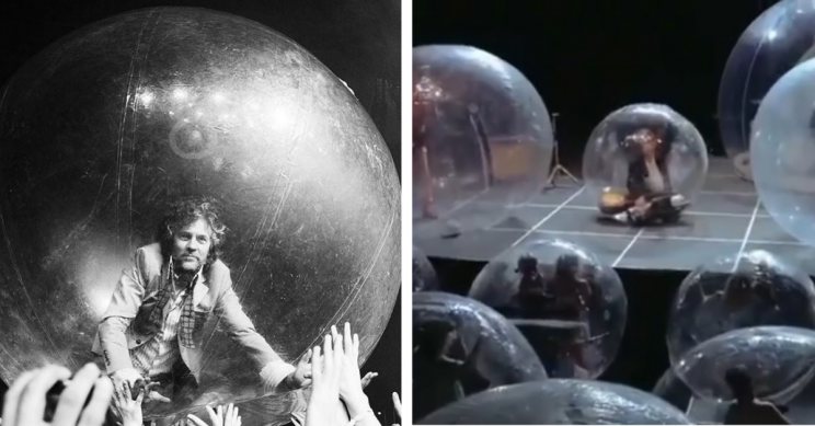 World-First Social Distance Ensuring Bubble Concert