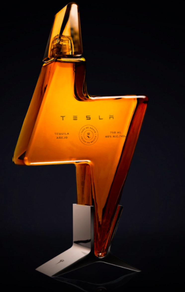 Tesla Launches 'Teslaquila' With Bolt-Shaped Bottle at $250