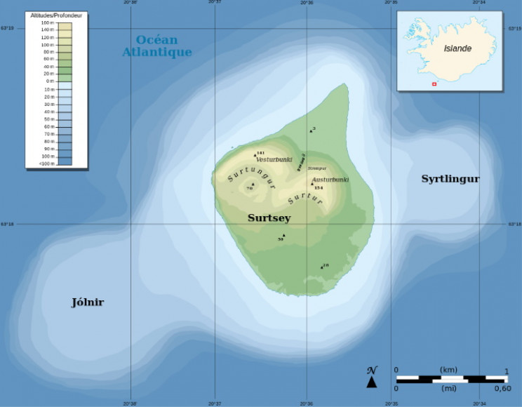 Map of Surtsey