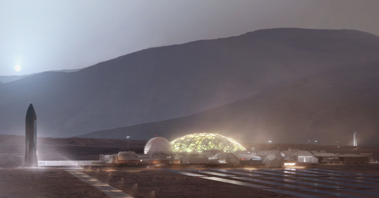 Elon Musk Says First Mars Inhabitants Will Live in Glass Domes