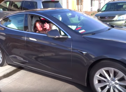 Grandma Freaks out at the Tesla Model S Smart Summon Feature