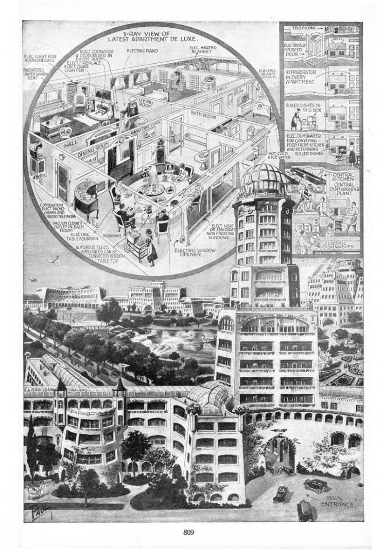 1800s predictions of the future apartments