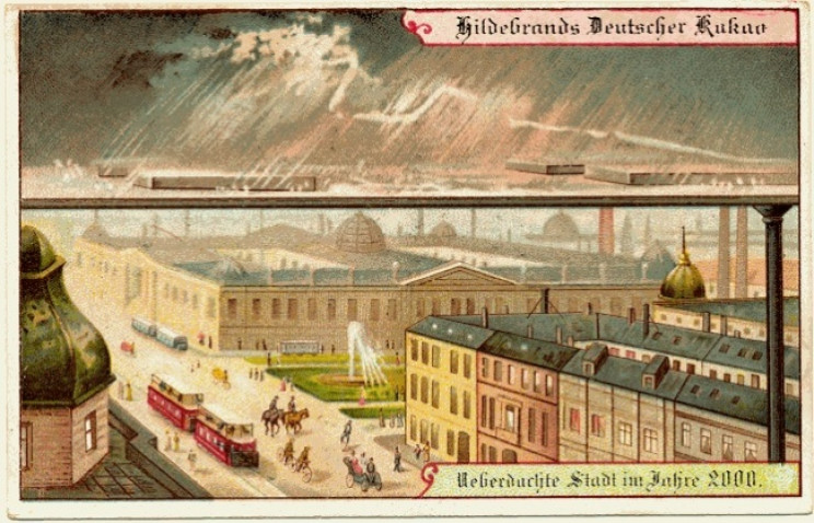 1800s predictions of the future city roofs