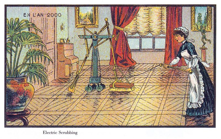 1800s predictions of the future cleaning robot