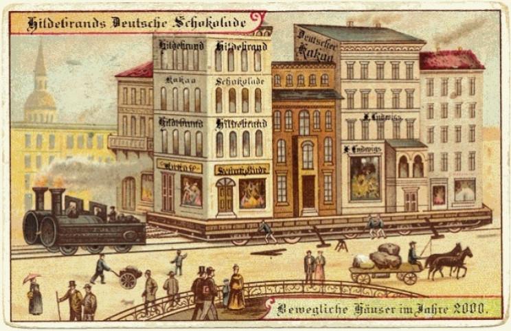1800s predictions of future train towns