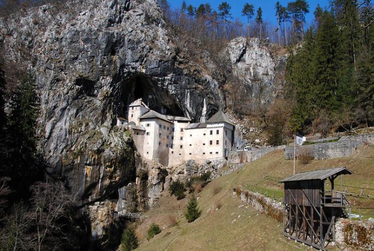 ancient cave structures predjama castle