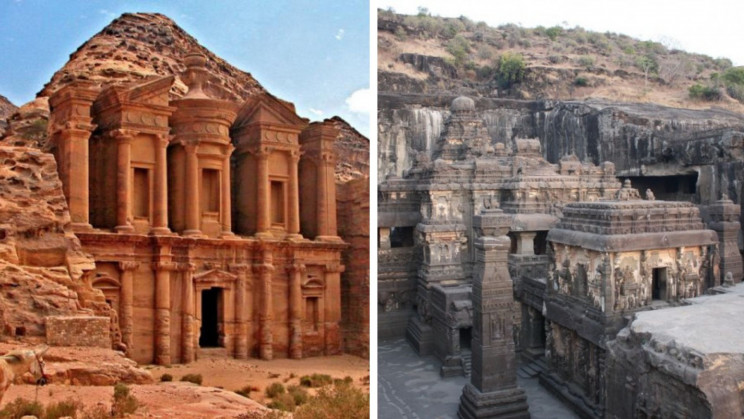 13 Complex Cave Castles, Temples, and Buildings Carved In Mountains