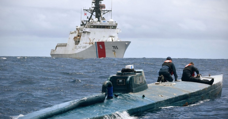 U.S. Coast Guard Leaps Aboard Moving Narco-Submarine in Dramatic Drug Bust
