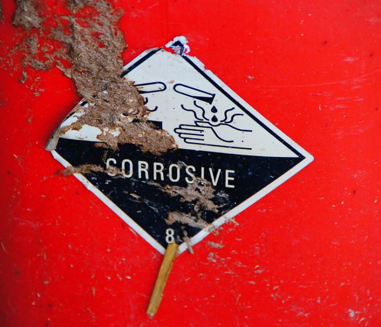 acid rain corrosive