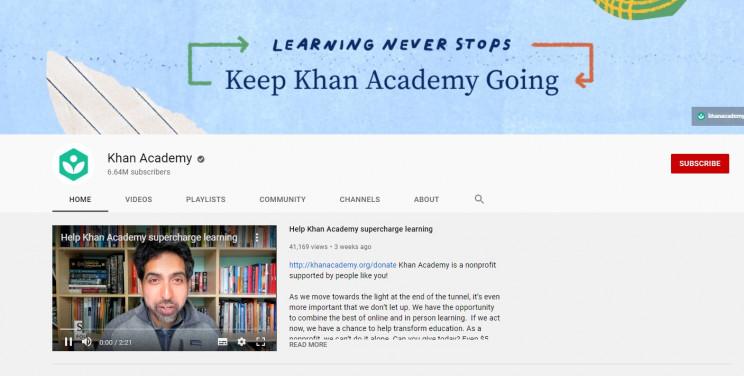 best youtube math channels khan academy