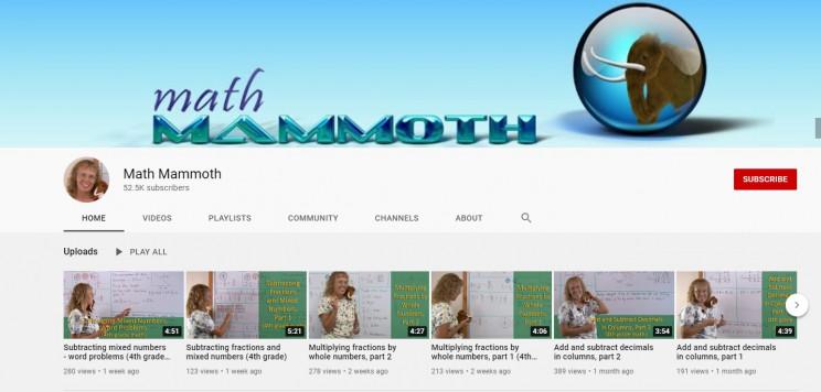 best math channels on youtube math mammoth
