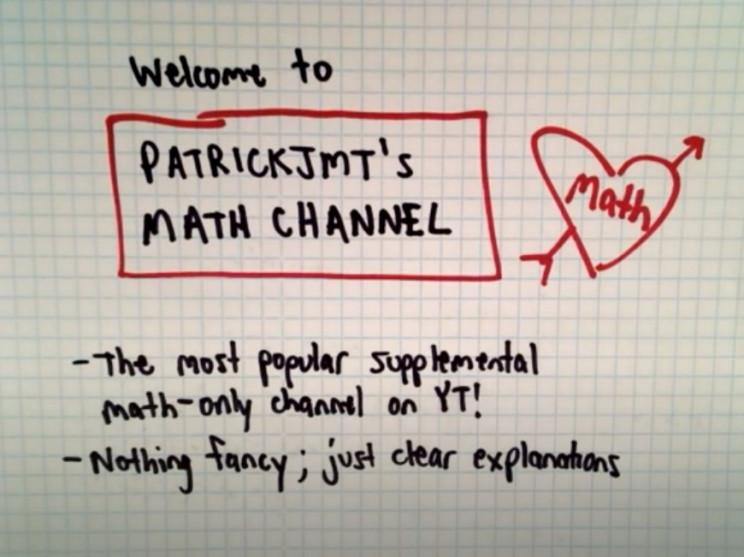 best math youtube channels patrickjmt